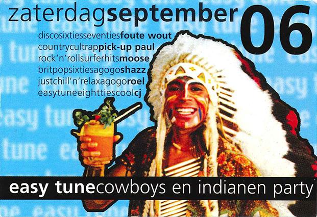 Easy Tune Cowboys en Indianen 6 september 2003 Achterzijde