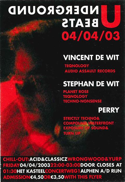 Underground Beats 4 April 2003 achterzijde