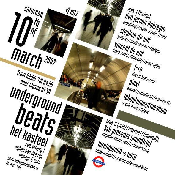 Underground Beats 10 maart 2007 Achterzijde