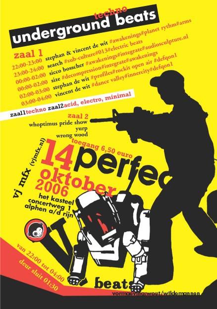 Underground Beats 14 Oktober 2006 Achterzijde