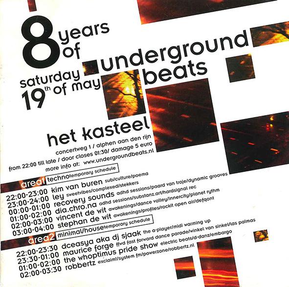Underground Beats 19 Mei 2007 achterzijde
