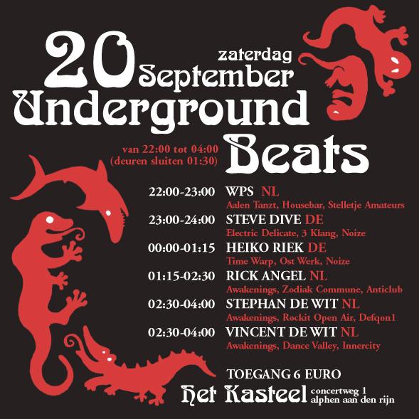 Underground Beats 20 September 2008 Achterzijde