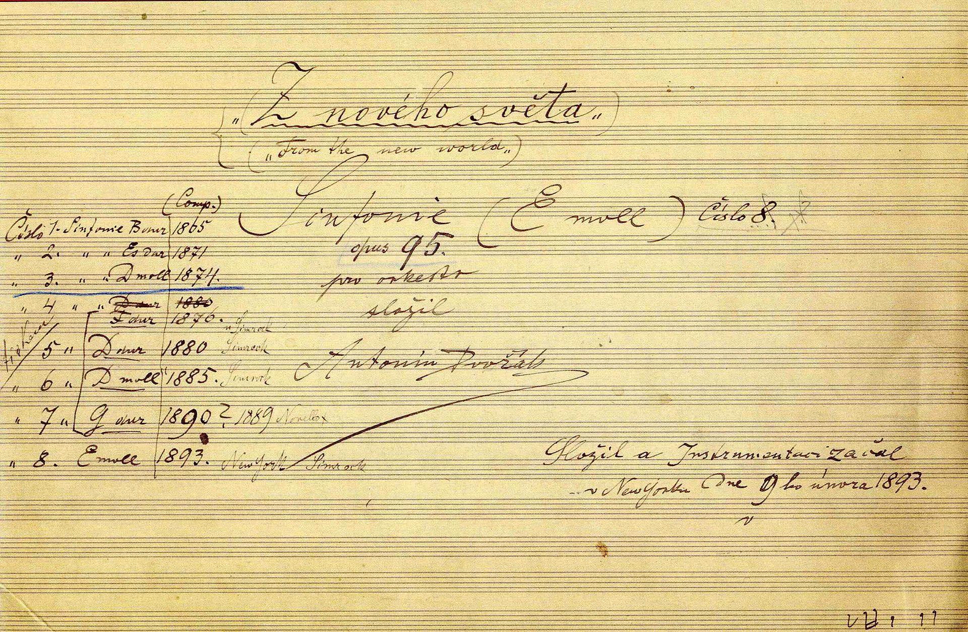 9e Symfonie van Dvořák